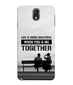 Fuson Designer Back Case Cover for Samsung Galaxy Note 3 :: Samsung Galaxy Note Iii :: Samsung Galaxy Note 3 N9002 :: Samsung Galaxy Note 3 N9000 N9005 (Togetherness Couple Life Partner Soul Mate)