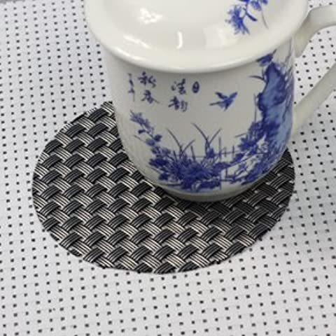 yifom PVC Cup Mat Tappetini sottobicchieri isolamento, 10 Black coffee