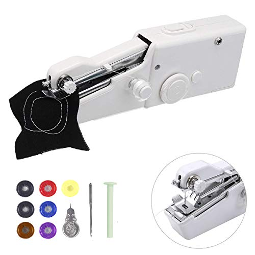 MSDADA Portable Sewing Machine,Mini Nähmaschine Electric Stitch Household Tool for Fabric, Clothing, Kids Cloth, Home Travel Use, for Kids &Adult(Bonus 7 Pcs Bobbins)