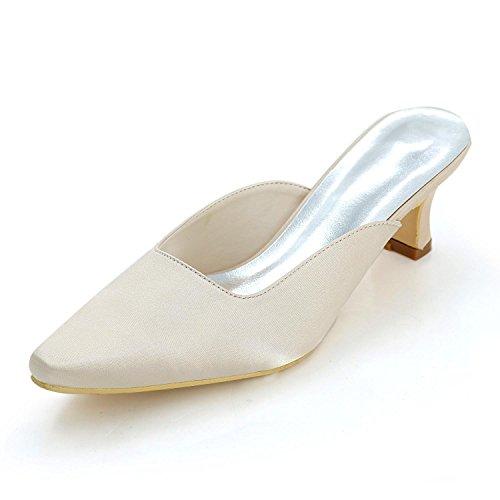 L@YC Pantofole Confortevoli Delle Donne, Quadrato Con Il Punteggio Casuale / Grande Formato ad alto Profilo Di Cerimonia Nuziale Su Ordinazione Champagne