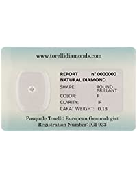 Torelli Diamond Brilliant Cut F/IF, 0. 13 CT