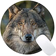 Yanteng Gaming Mouse Mat, Animal Wolf Men Mousepad Respaldo de Goma Antideslizante