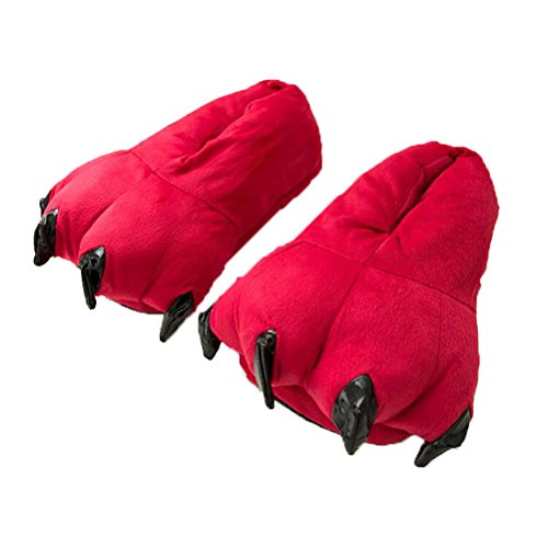 Vogstyle Pantofole Peluche Pistone Caldo/Kigurumi Pigiami e Camicie da Notte Stile-3 Rosso