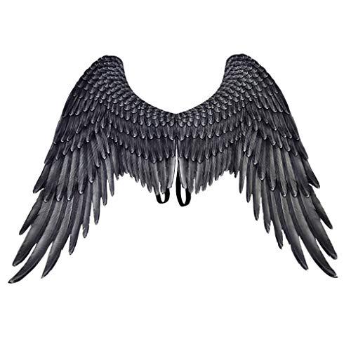 Skxinn Halloween Engelsflügel für Cosplay/magisches Kostüm, Kostümzubehör,Bühnenzubehör, für Halloween, Weihnachtsparty(C,54 * 33 cm)