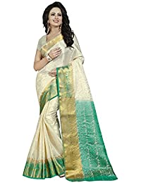 Nirja Creation Women'S Cotton Silk Saree With Blouse( Madhuri ) (Green)