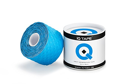 IQ Tape 5cm x 5m inkl. Anleitung und Fixierring (Blau)