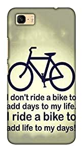 Blutec Ride A Bike Design 3D Printed Hard Back Case Cover for Asus Zenfone 3s Max ZC521TL