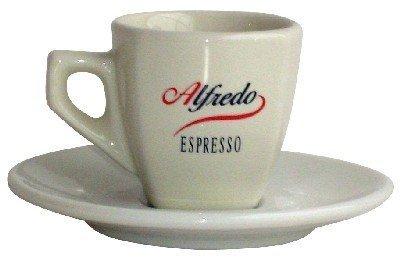 Alfredo Classic Espresso-Tasse mit Untertasse 6 Stk, Aurora elfenbein