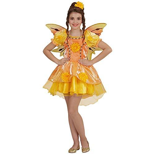 Kind Kostüm Sonnenblume - Widmann 49076 - Kinderkostüm Sommer Fee, Kleid und Flügel