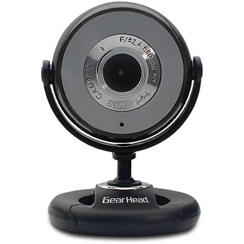 Gear Head WC740I-CP10 cámara web - Webcam (USB 2.0, Negro, Windows XP, Vista, 7 Mac OS 10.4, 10.5, 10.6,