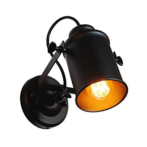 Industrielle Vintage-Wandleuchte mit verstellbarem Kopf, Rustikal Metallwand-Lampen-Licht-Leuchter-Befestigung for Haupt, Bar, Restaurants, Kaffee Decorat (ohne Lampe) -