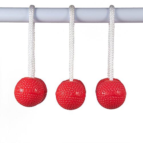 S, Set von 3, rot (Ladder Ball Bälle)