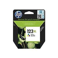 اتش بي 123XL خرطوشة حبر اوريجينال ثلاثية الالوان عالية الإنتاجية - ازرق سماوي، ماجينتا اصفر