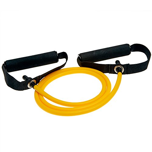 elastico per esercizi ad elevata resistenza forza fasce per allenamento di resistenza, light/medium/heavy elastico stretch tubi palestra di alta qualità per uomo/donna, 10 libbre gialle