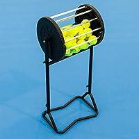 Vermont Tennisball Roller Mäher & Hopper | Speichern Sie bis zu 85 Tennisbälle | Verschließbarer Deckel | Einfache Tennisball-Kollektion | Professioneller Ballkorb | Pulverbeschichteter Stahlrahmen