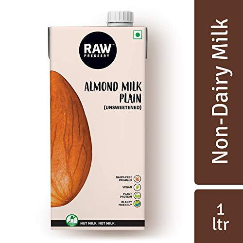 Raw Pressery Almond Milk, Plain Unsweetened, 1L Pouch