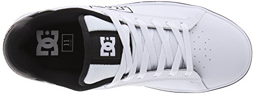 DC Men's Notch 2 Skate Shoe, Grey, 6 M US Bianco