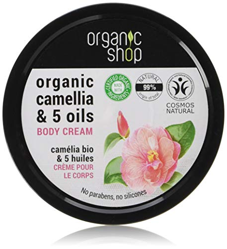 Organic Shop Body Cream Japanese Camellia Organic Camellia & 5 Oils 250ml - Macadamia Oil Body Butter
