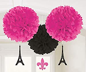 Amscan International - 180185 un día en París Fluffy Kit de decoración