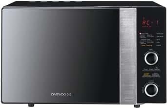 Daewoo KOC8H6T Four à Micro-Ondes pose libre avec Grill 24 L 900 W 3 Fonctions Noir / Miroir