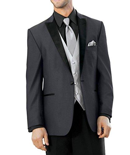 Suit Me 3 pi¨¨ces pour hommes costume 1 bouton costume smoking de mariage pantalon veste blazer veste Gris