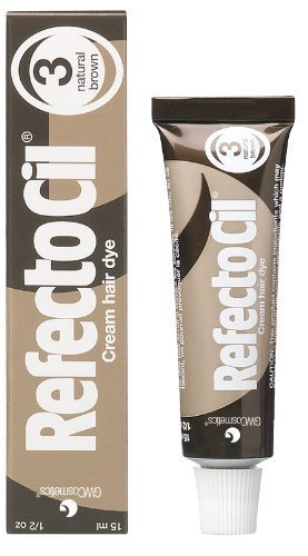 RefectoCil Cream Hair Dye (NATURAL BROWN) .5oz by RefectoCil BEAUTY (English Manual)