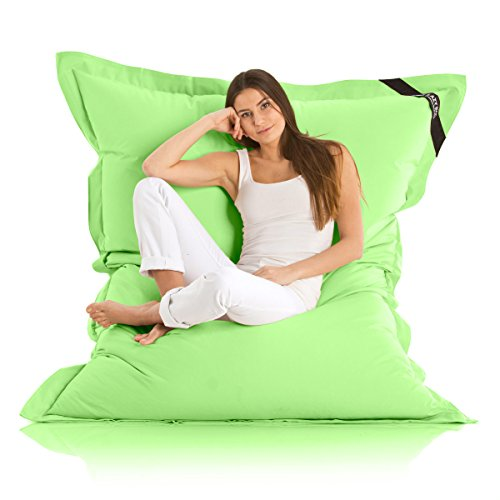 Original LAZY BAG Indoor & Outdoor Sitzsack XXL 400L Riesensitzsack Sitzkissen Sessel für Kinder & Erwachsene 180x140cm (Grün)