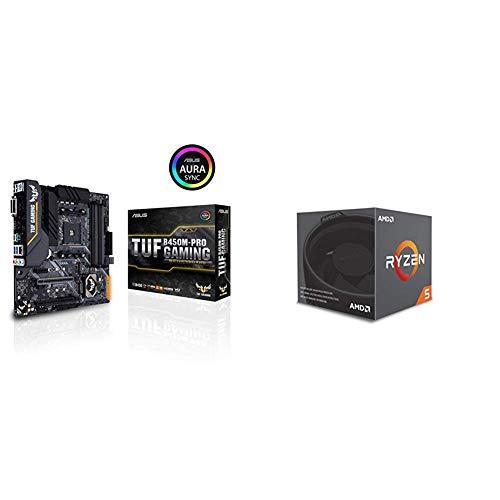 Pack placa base ASUS y procesador AMD: Asus TUF B450M-PRO Gaming AM4 AMD B450...