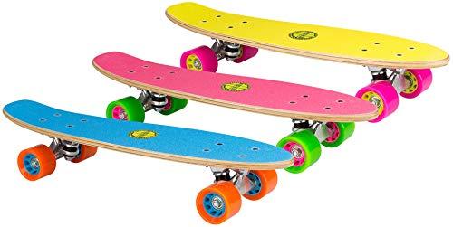 Nijdam Free Flip Skateboard Holz, Fluorgelb/Magenta/Grau, One Size/22.5 Zoll