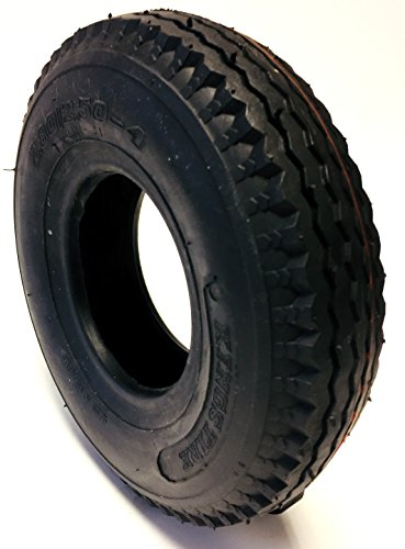Preisvergleich Produktbild CST Rollstuhlreifen 2.80 / 2.50-4,  4PR,  schwarz,  Straßenprofil Leichtlauf,  Stabiler Reifenaufbau in 4 PR,  Rollstuhl Reifen für Elektromobil,  Scooter,  E-Rollstuhl