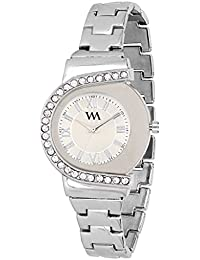 Watch Me Analog White Dial Stainless Steel Metal Strap Girls And Women's Watch WMAL-195new