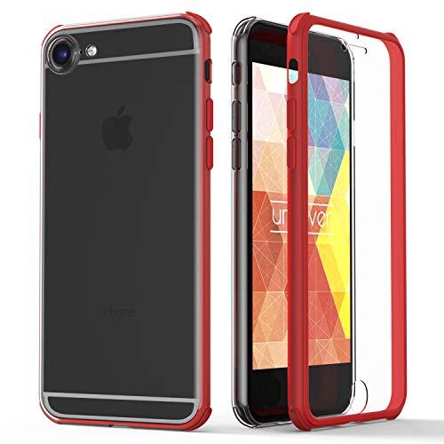 Urcover® 360 Grad rundum Schutzhülle kompatibel mit Apple iPhone 6 / 6s I berühmt aus Galileo I Quattro Edition I Rot