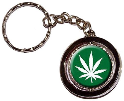marijuana pot Leaf-Nuovo anello portachiavi