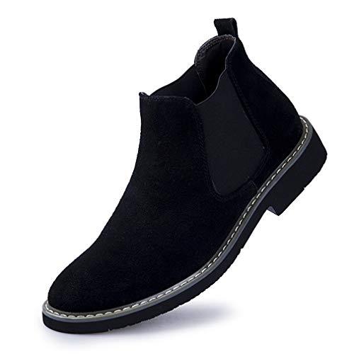 YAN 2018 Martin Boots Herren Lederschuhe Formale Business-Schuhe Kleider Schuhe Neuheit Schuhe Hochzeit Casual Party & Abend Täglich Wanderschuhe,Black,38 (Herren-boot-kleid)