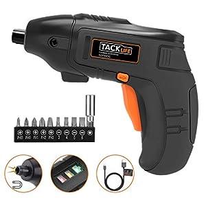 TACKLIFE Cacciavite Elettrico, Avvitatore a Batteria Ioni di Litio 1500mAh, 10 Accessori+ 3,6V, Luce LED, Ricaricabile… 41j89Po04 L. SS300