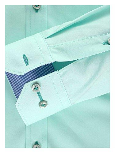 Venti Messieurs Chemise d'affaires 100 % coton Body stretch Menthe