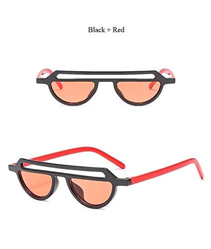 Klassische Sportsonnenbrille, Chic Hollow Sunglasses Brand Fashion Catwalk Sun Glasses Ladies Small Frame Half Frame Vintage