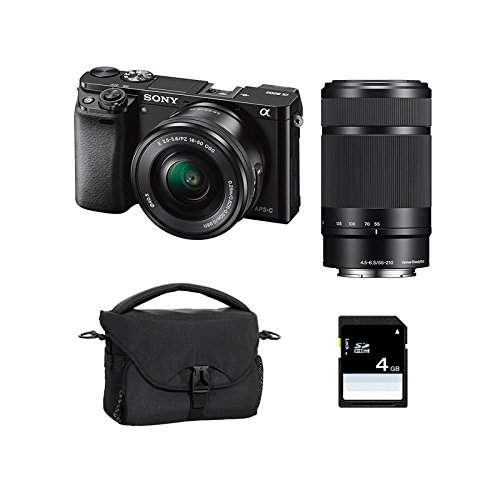 SONY ALPHA 6000 NOIR + 16-50 + 55-210 + SD 4 Go + Sac