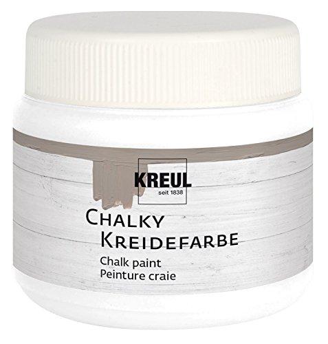 Kreul 75323 - Chalky Kreidefarbe, sanft - matte Farbe, cremig deckend, schnelltrocknend, für Effekte im Used Look, 150 ml Kunststoffdose, Snow White