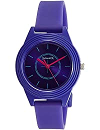 Sonata Color Pop Analog Purple Dial Girls Watch-87024PP01