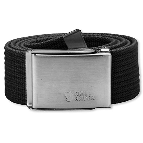 Fjällräven Herren Gürtel Merano Canvas Belt, Black, One Size, 77028