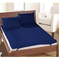 Rajasthan Crafts Microfiber Double Bed Water Resistant and Dust Proof Mattress (Blue, 72x78 cm)
