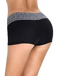 66253f7b268884 iEFiEL Damen Shorts Sport Laufhose Gym Yoga Shorts Kurze Hose Laufshorts  Fitness Sporthose Trainingshose