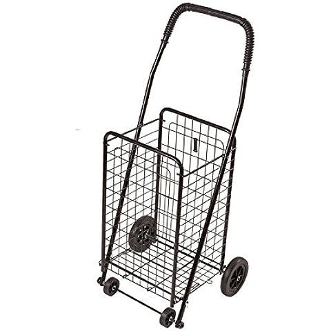 DMI Folding Shopping Cart, Compact, Lightweight, Black