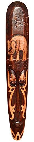 Schöne 100 cm Wand Maske Elefant Holz Tier Afrika Maske45.100