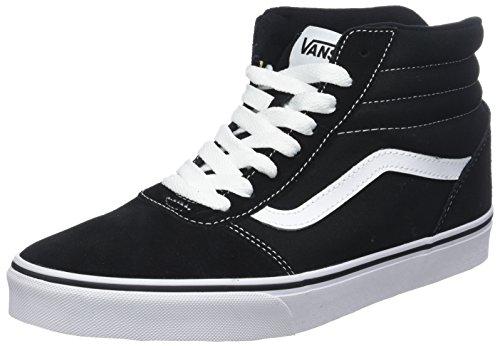 Vans Unisex-Erwachsene Ward Hi Hohe Sneaker, Schwarz ((Suede/Canvas) Black/White C4R), 44 EU