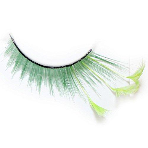 Lash & Co - Faux cils en plumes - - Plume verte
