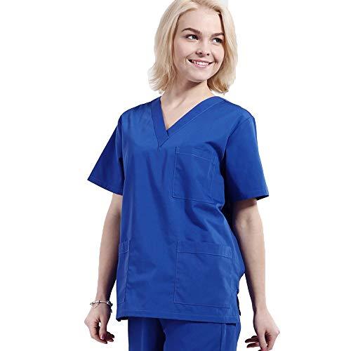 Engel Uniformen Damen Krankenschwester Anzug Medizinisches Peelingset mit V-Ausschnitt Medizinisches Anti-Falten-Peeling Top Top & Hose mit 3 Taschen Arbeitskleidung Medizinische Uniform,XXXL -