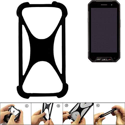 K-S-Trade Handyhülle für Cyrus CS 27 Schutz Hülle Silikon Bumper Cover Case Silikoncase TPU Softcase Schutzhülle Smartphone Stoßschutz, schwarz (1x)