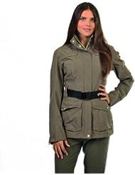 Northland Professional Kim - Abrigo con cinturón para mujer verde oak Talla:46